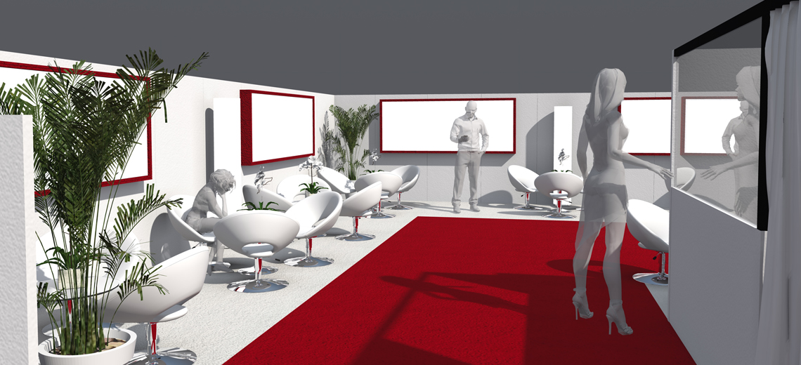 Espace VIP red and white