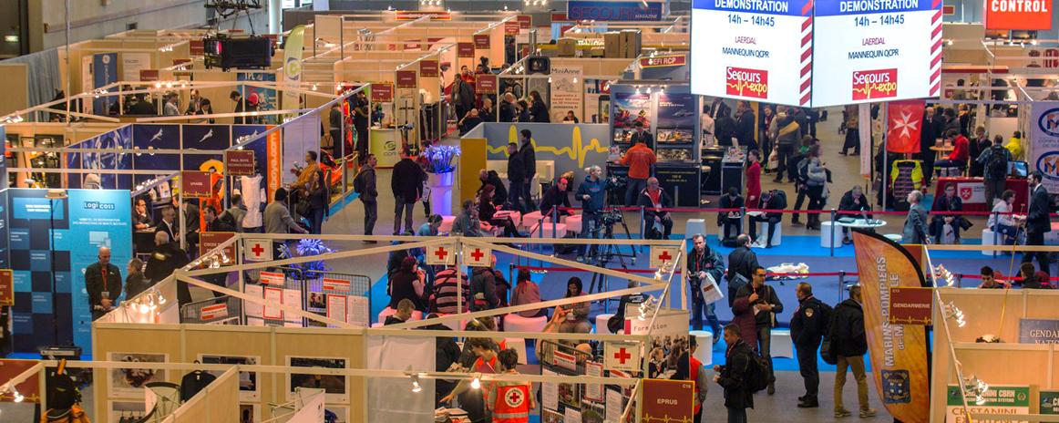 Installation stand salon secours expo