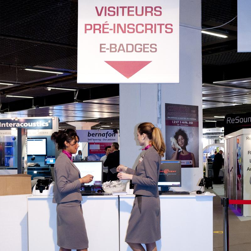 Hôtesses, e-badges