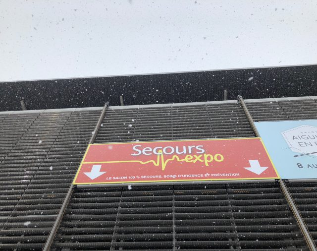 SECOURS EXPO 2018, THE SPAT TEAM PRESENTS ON SITE TO ENSURE ASSEMBLY, OPERATION AND DISASSEMBLY.