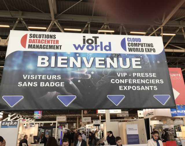 "La signalétique de ""Cloud Datacenter expo et ioT world 2018"""